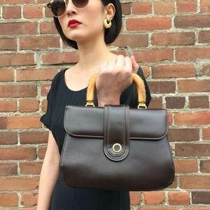 1960's Brown Leather Bag